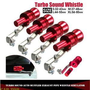 Universal Red Turbo Sound Auto Muffler Exhaust Pipe Whistle Simulator S M L Xl
