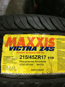 2 New 215 45 17 Maxxis Victra Z4s Tires
