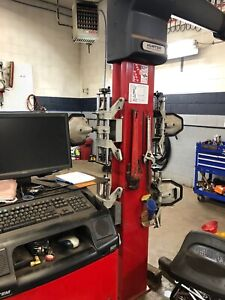 Hunter Hawkeye Wheel Aligner And Four Post Alignment Lift Rack