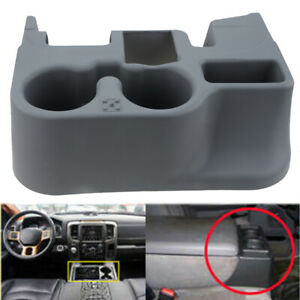 For Dodge Ram 1500 2500 3500 2003 12 Center Console Cup Holder Storage Gray