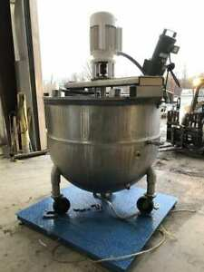 304ss Groen Steam Jacketed Mixer Kettle Tank 430 Gallon W 5000lb Scale 15hp 3ph