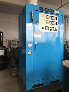 75 Kw Induction Melter Heater Lepel With 250lb Tilt Furnace