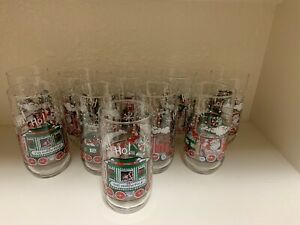 Vintage McCrory Stores Coca Cola Christmas Glass Santa North Pole Express Lot 10