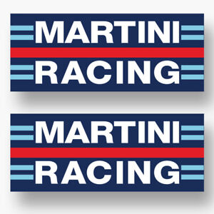 2x Martini Racing Sticker Vinyl Decal Vintage Race Motorsport Bike Car Window