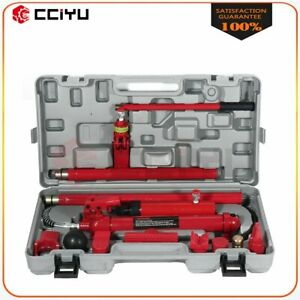 1 Set New Red 10 Ton Hydraulic Jack Body Frame Repair Air Pump Autobody Tool Kit