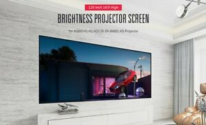 120 16 9 Projector Projection Portable Foldable Screen Pull Down Home Theater