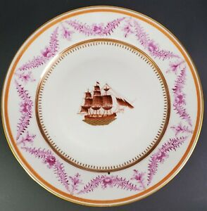 Chinese Export Plate With American Ship 18th 19th Century Excellent Condition B