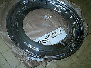 1957 58 Oldsmobile Chrome Trim Rings Set Of 4 In Package 14 Inch