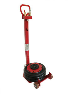 3 Tons 6600lb Air Jack Red Color With Folding Rod Air Valve Adjustable Angle