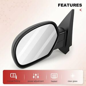 Left Side Foldaway For 2007 2013 Chevy Gmc Power Heated Driver Side View Mirror