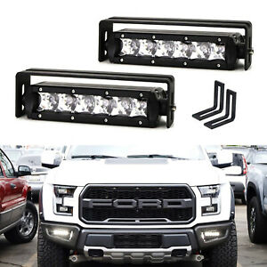 30w Sr Led Fog Lightbar Kit W Mounting Brackets Wires For 2017 Up Ford Raptor