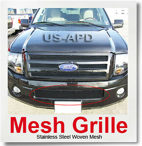 For 07 11 2011 Ford Expedition Bumper Black Mesh Grille