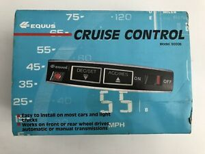 Dash Mount Speed Cruise Control Equus 9000b Complete Kit New In Box