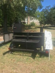 New 2019 6 X 14 Open Bbq Smoker Trailer Custom built Bbq Pit For Sale In Ala