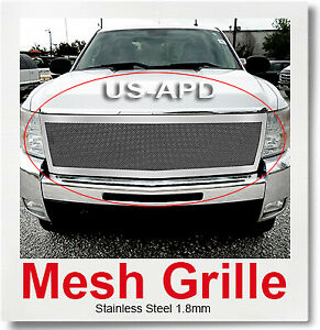 Fits Chevy Silverado 2500 3500 Stainless Mesh Grille 2007 2010