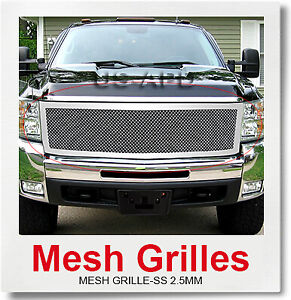 Fits 2007 2010 Chevy Silverado 2500 3500 Stainless Steel Mesh Grille