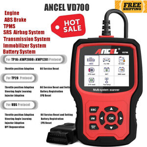 All Systems Scanner Abs Srs Airbag Dpf Epb Oil Tpms Obd2 Code Reader Diagnostic