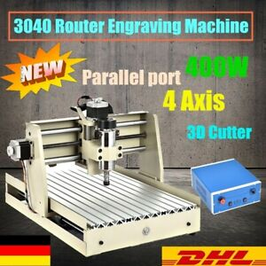400w 4axis Cnc 3040 Router Engraver Engraving Machine 3d Cutter Wood Pcb Carving