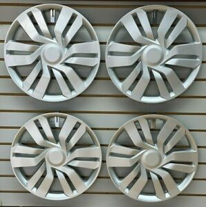 New 15 Silver Hubcap Wheelcover 2015 2017 Honda Fit Replacement Set