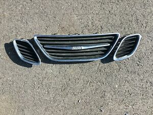 2003 2007 Saab 9 3 Grille Insert Set Left Right And Center