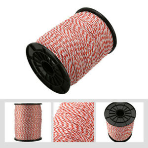Electric Fence Poly Wire 500m Roll Polywire With Steel For Horse Sheep 2mm