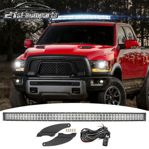 Fit 98 18 Dodge Ram 1500 2500 3500 Upper Roof 52 Curved Led Light Bar Mount Kit