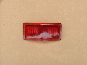 1946 48 Lincoln Trunk Ornament Tail Light Lens Nos