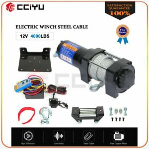 4000lbs 12v Electric Winch For Truck Trailer Pickup Suv Wireless Remote New