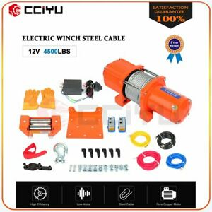 4500lbs 12v Electric Winch For Truck Trailer Pickup Suv Wireless Remote New