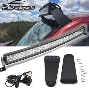 Fit 95 02 Toyota Tacoma 4runner Roof 40 Curved Led Light Bar Bracket Wire Kit