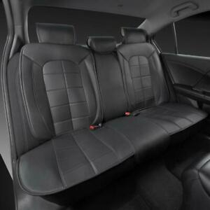 Rear Bench Leatherette Car Seat Covers Pu Leather Cushion Protector Gray Black