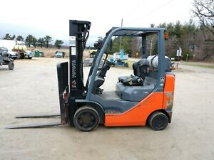 Nice 2010 Toyota 5000 Lb Lpg Forklift 8fgcu25 Side Shift