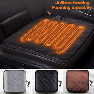 12v Heated Car Seat Cushion Cover Office Thickening Heating Warmer Chair Pad