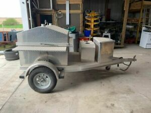 Southern Steamers Grill Open Smoker Trailer Barbecue Pit In Great Condition Fo