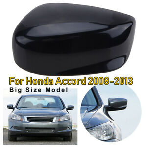 For 2008 2012 Honda Accord Black Door Rear View Mirror Cover Trim Cap Left