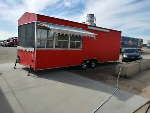Loaded 2010 8 X 28 Food Concession Trailer With Pro Fire Suppression System Fo