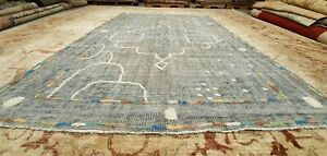 Sweet Antique 1940 1950 S Distressed Wool Pile Natural Dye Oushak Area Rug 6x9ft
