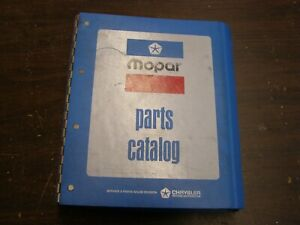 Oem 1976 Dodge Chrysler Plymouth Dart Master Parts Book Charger Duster Fury Nos