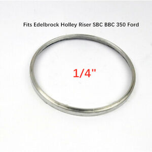 1 4 Aluminum Air Cleaner Spacer Fits Edelbrock Holley Riser Sbc Bbc 350 Ford