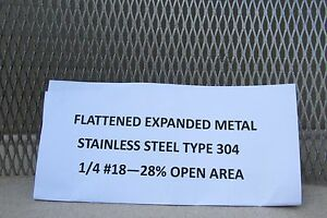 1 4 18 304 Stainless Steel Flattened Expanded Metal 18 X 18
