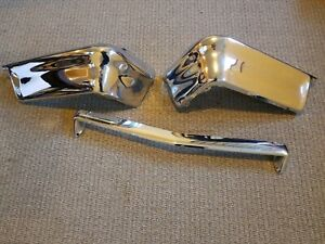 Nice Re Chromed 1962 Chevy Chevrolet Impala Front Grill Bumpers Original