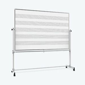 Luxor 72 X 48 Reversible Magnetic Mobile Music Whiteboard whiteboard 74 5 w X