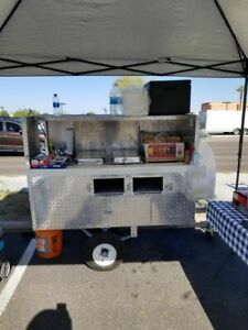 Used 2017 Cart By Victor Hot Dog Vending Concession Cart On A 5 X 10 Trailer F