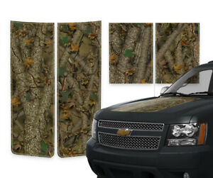 Chevy Avalanche Racing Stripe Truck Hood Tailgate Decals Forest Camo 2000 2006