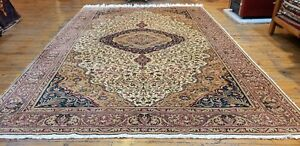 Genuine 1900 1939s Antique Muted Colors Legendary Hereke Area Rug 7x10ft