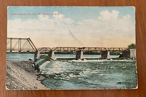 Lower Bridge And Dam Janesville Wisconsin Postcard Divided Back Posted 1908