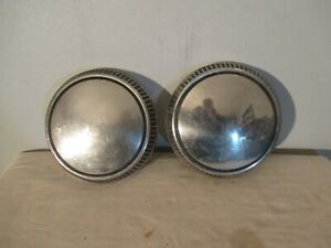 2 Vintage Ford Dog Dish Hubcaps Hub Cap Wheel Cover Poverty