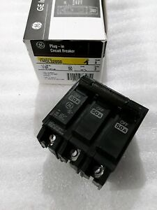 Thql32050 General Electric 3pole 50amp 240v Circuit Breaker New