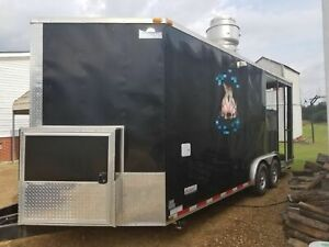 2014 Equipment 8 5 X 25 Bbq Food Concession Trailer W Porch For Sale In Tenn