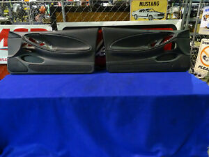 99 00 01 02 03 04 Mustang Left Right Side Door Panel Pair Panels Oem Charcoal 6